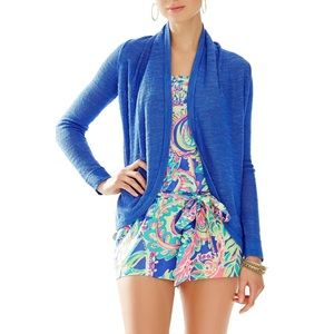 Lilly Pulitzer Iris Blue Sotheby Cardigan Sweater